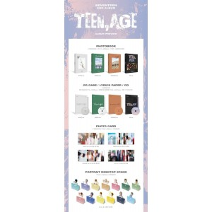 SEVENTEEN - TEEN,AGE (White/Green/Orange/RS Ver. IN SET)