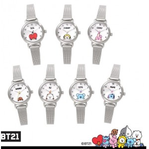 BTS (방탄소년단) - BT21 OST Jewelry (Simple Metal Watch / Silver Mesh Watch)